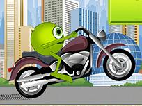 Mike pe Motocicleta