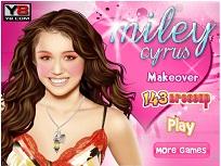 Miley Cyrus la Machiaj