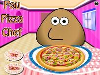 Pou Face Pizza