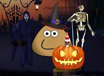 Pou Casa de Halloween
