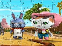 Puzzle cu Seriful Callie si Prietenii Lui
