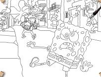 Coloreaza cu Spongebob