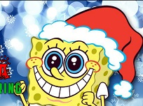 Spongebob si Mos Craciun de Colorat