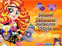 Sunset Shimmer Motociclista