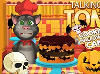 Talking Tom Face Prajitura de Halloween