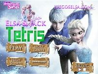 Tetris cu Elsa si Jack Frost