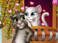 Talking Tom si Angela se Saruta
