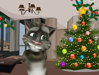 Talking Tom Decoreaza de Craciun