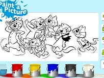 Top Cat de Colorat